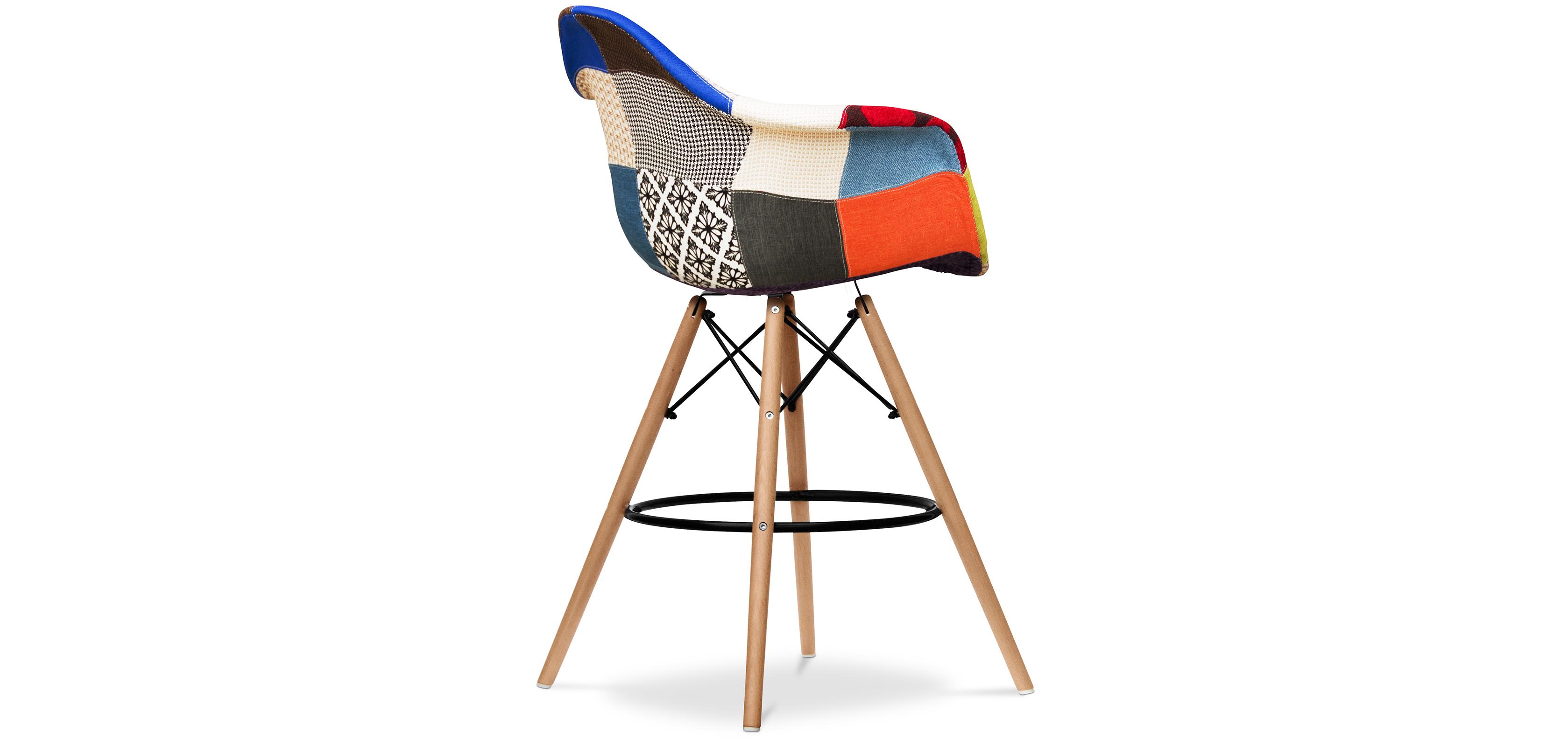 tabouret de bar dawly patchwork niki. Black Bedroom Furniture Sets. Home Design Ideas