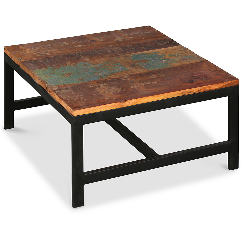 table basse roulante grange covintage industrial bois. Black Bedroom Furniture Sets. Home Design Ideas