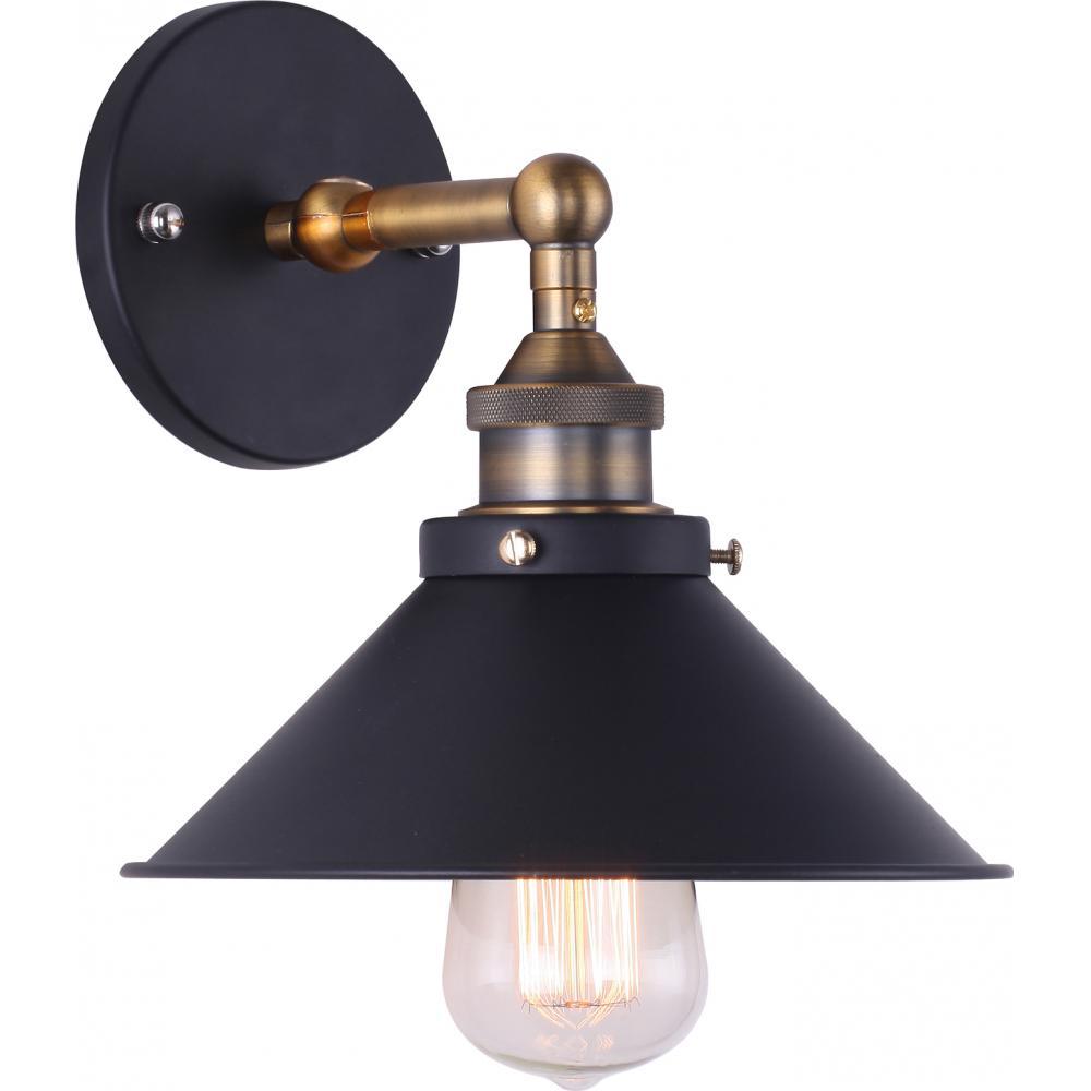 lampe murale potence noire acier laqu. Black Bedroom Furniture Sets. Home Design Ideas