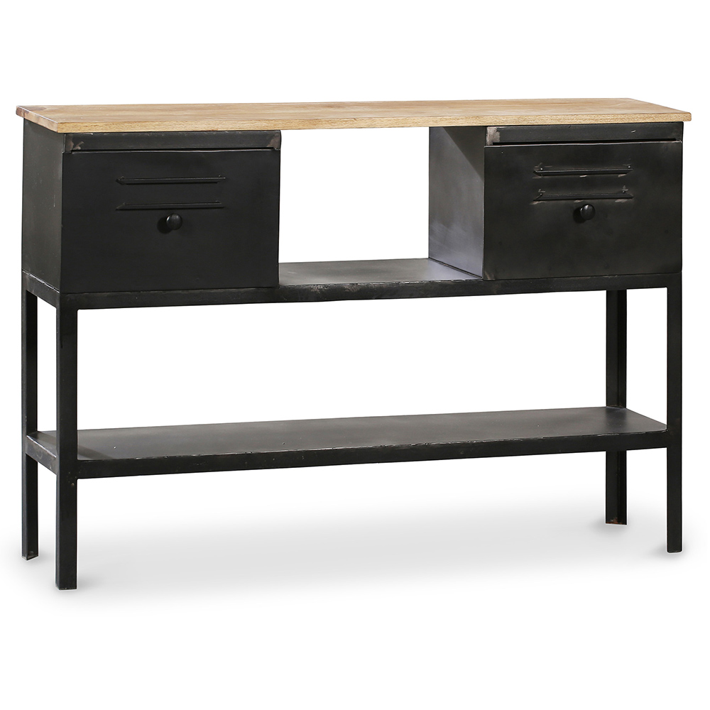 console onawa en m tal style industriel vintage. Black Bedroom Furniture Sets. Home Design Ideas