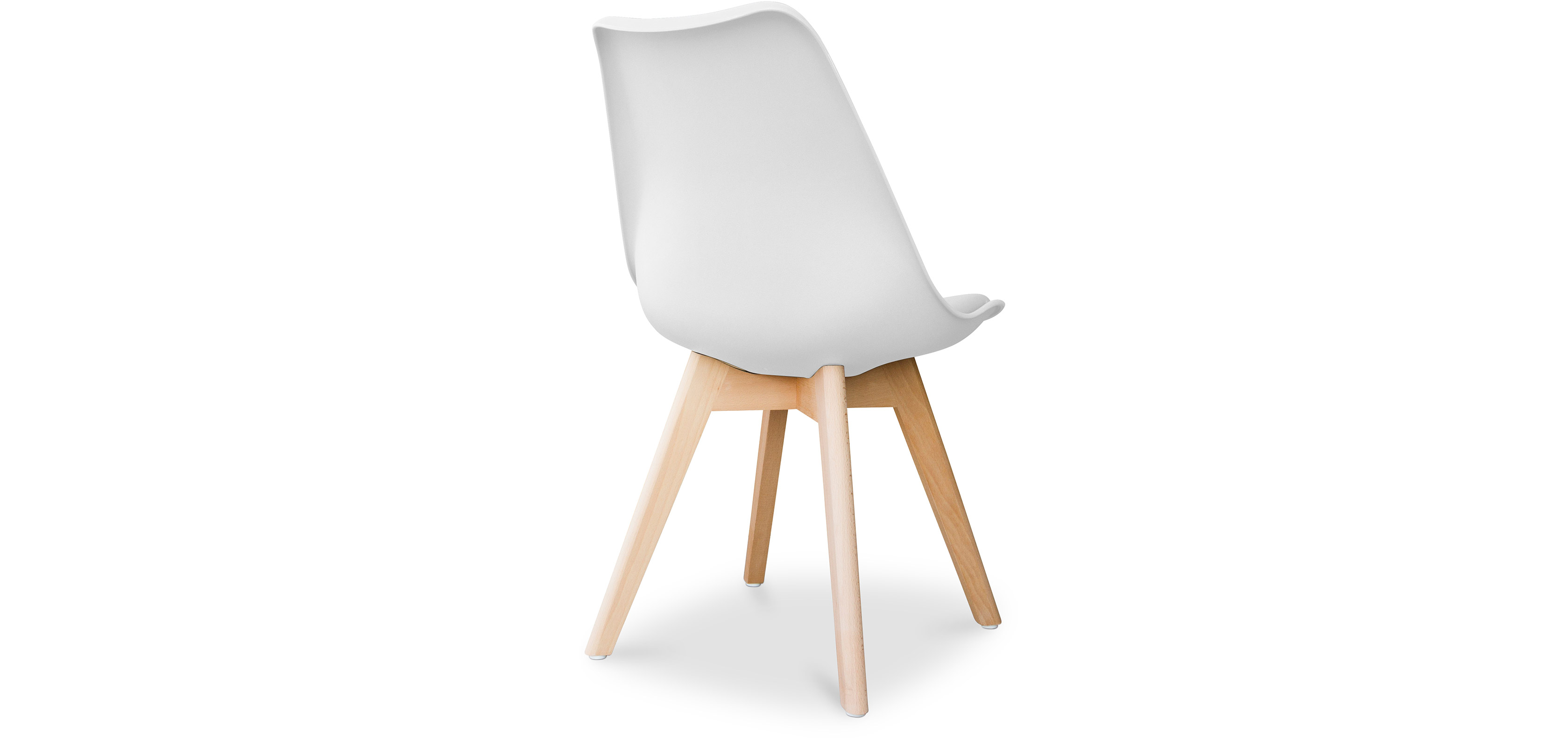 chaise dsw avec coussin design scandinave charles eames. Black Bedroom Furniture Sets. Home Design Ideas