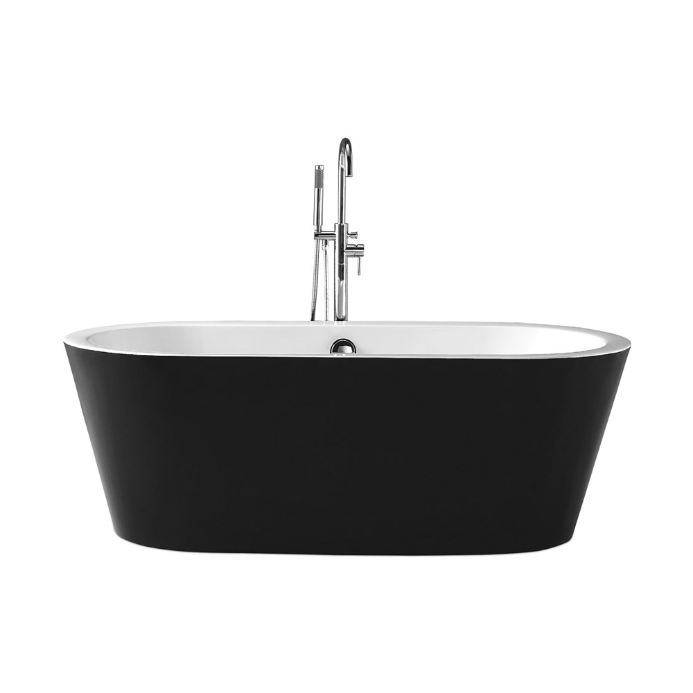baignoire ilôt noire acrylique lisa