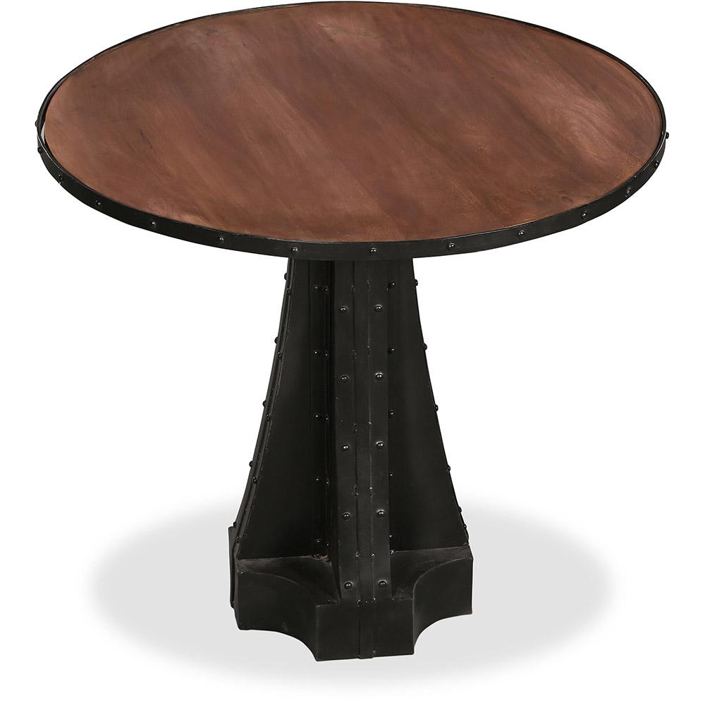 Table De Salle A Manger Ronde En Metal Style Industriel Avara