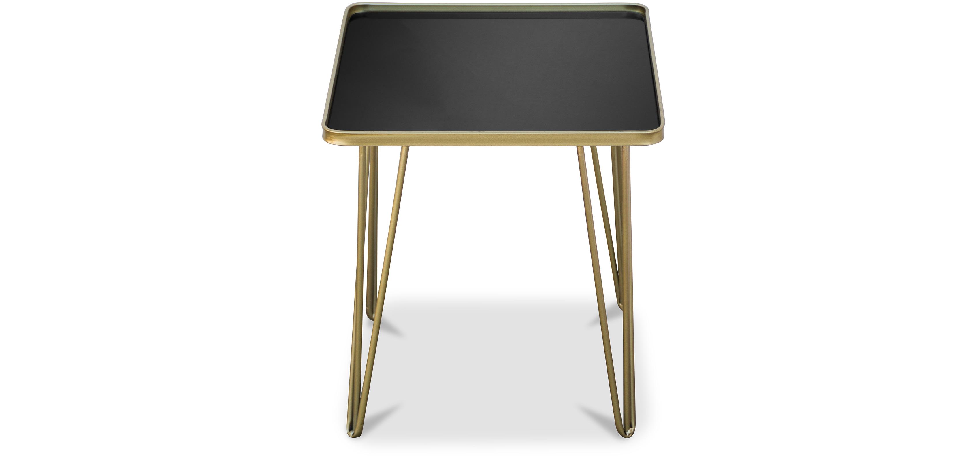 table basse d 39 appoint pieds en pingle dor s. Black Bedroom Furniture Sets. Home Design Ideas