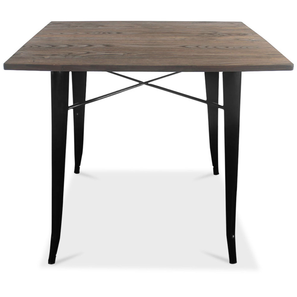 table de salle manger ronde en m tal style industriel avara. Black Bedroom Furniture Sets. Home Design Ideas