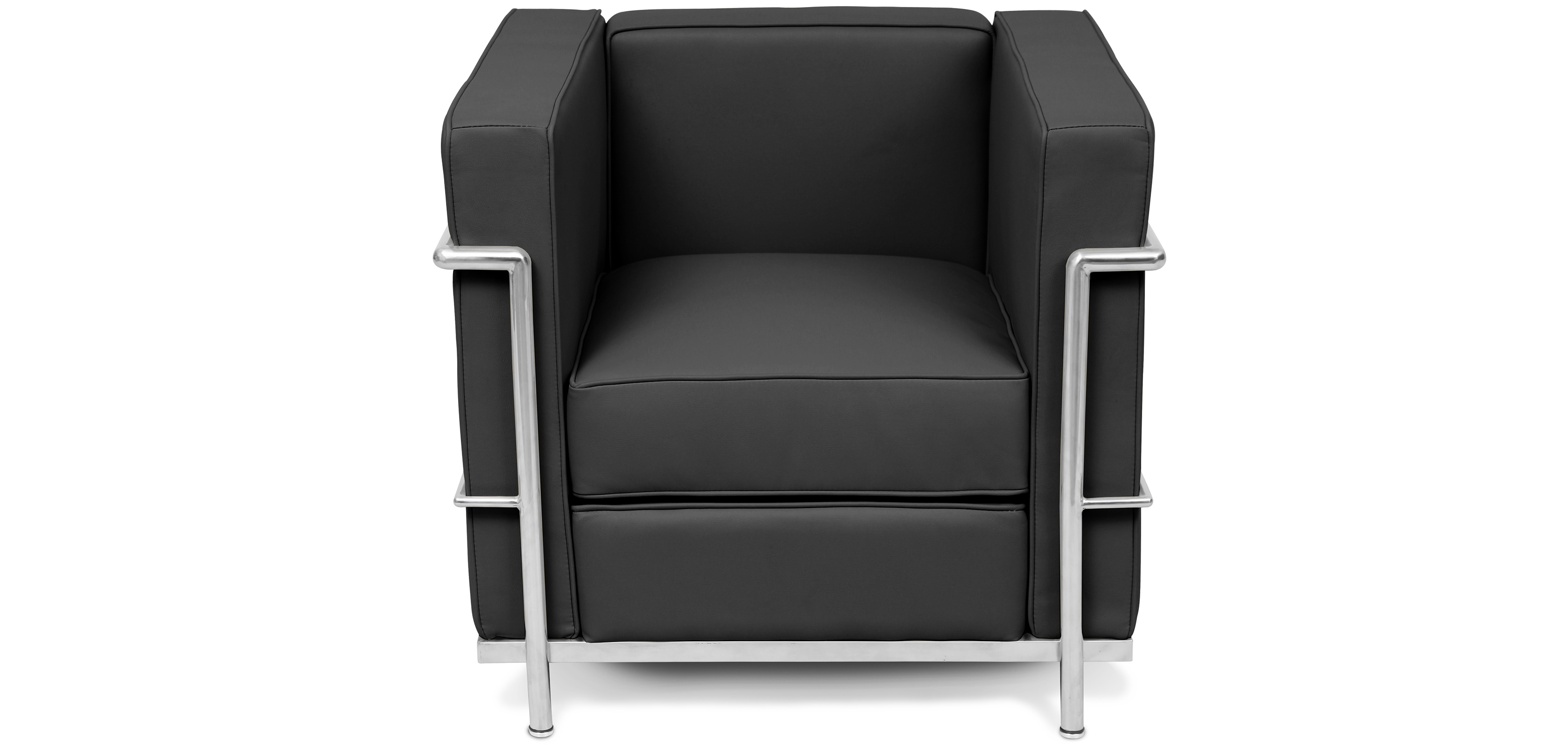 fauteuil lc2 le corbusier simili cuir. Black Bedroom Furniture Sets. Home Design Ideas
