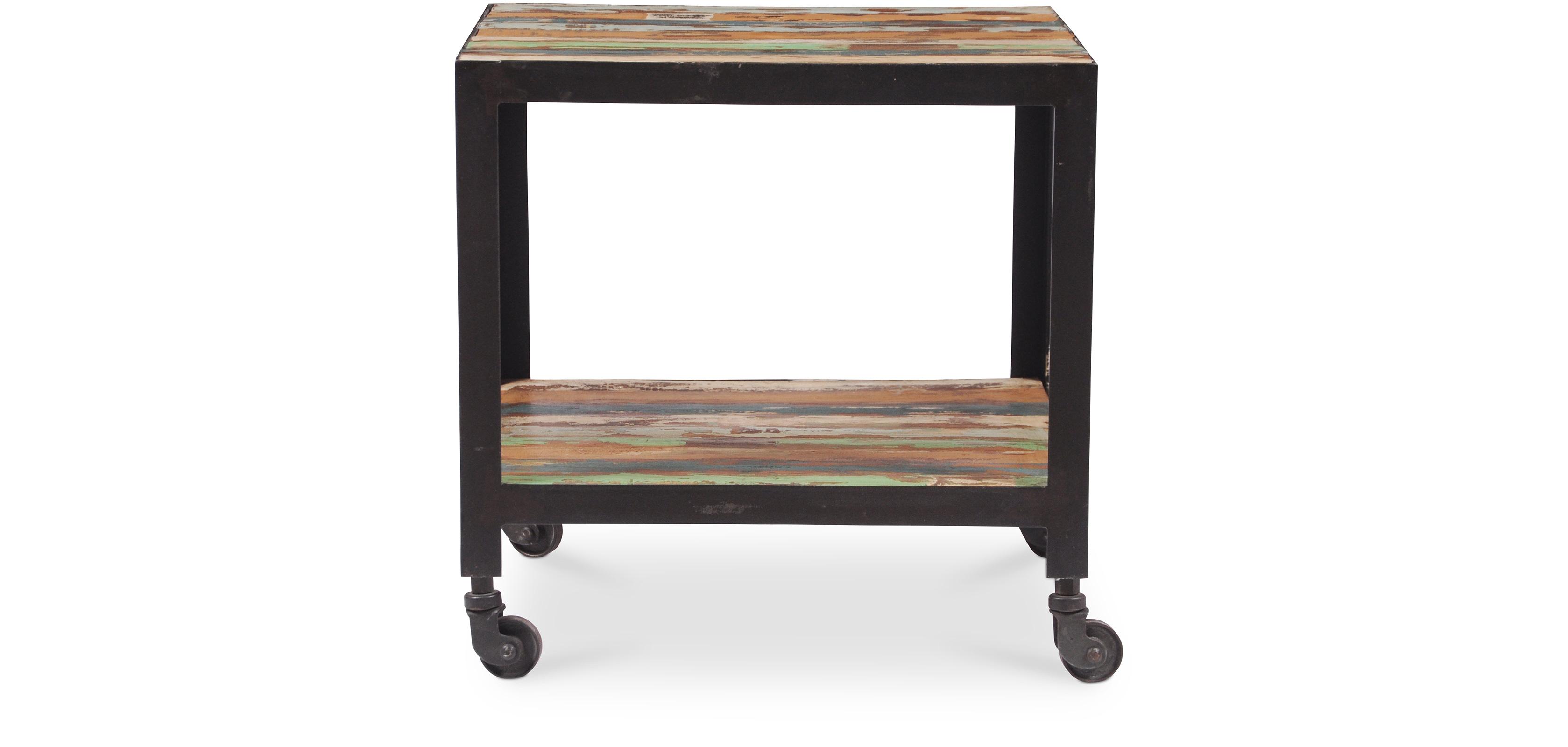 table d 39 appoint vintage industriel bois color. Black Bedroom Furniture Sets. Home Design Ideas