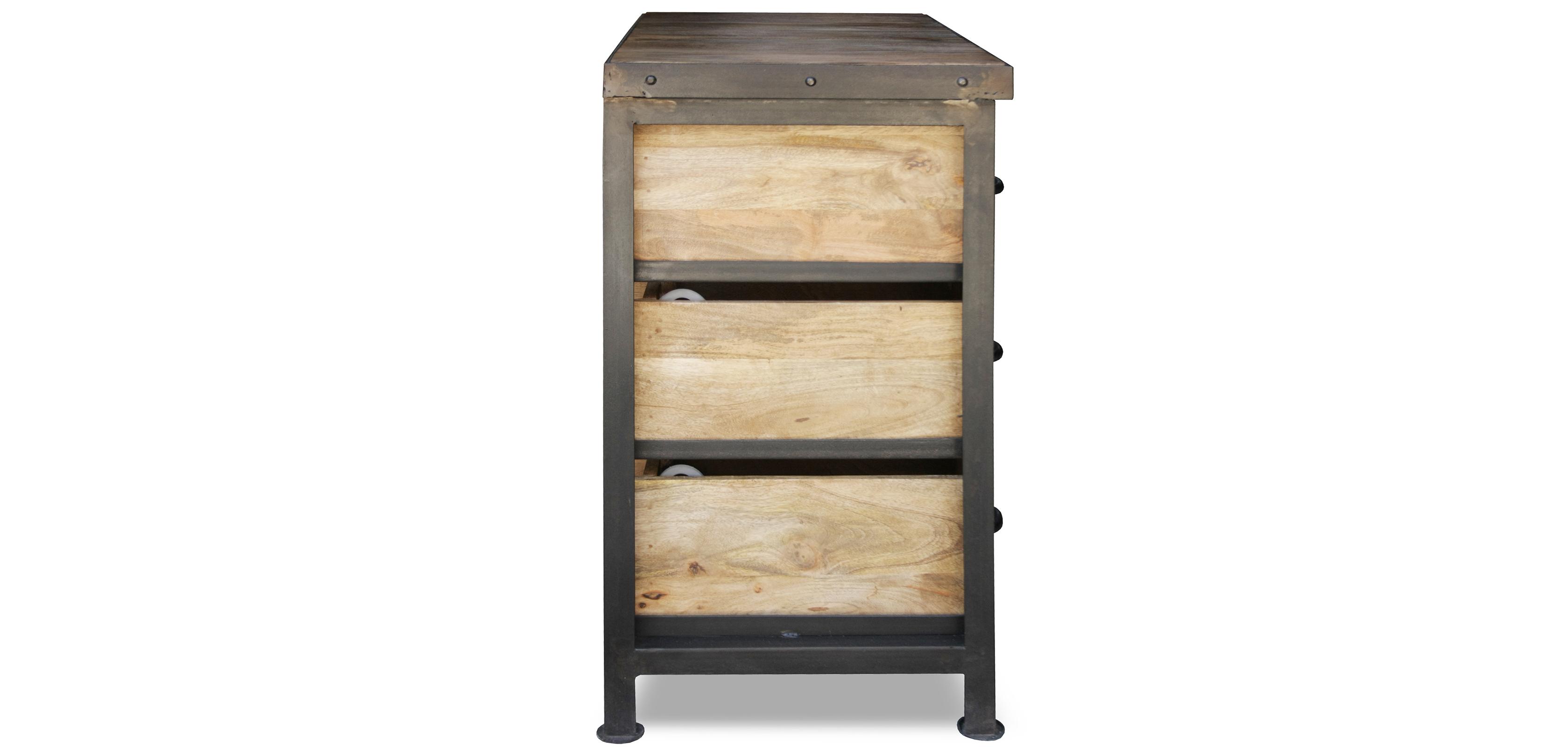 Commode vintage industriel bois 9 tiroirs - Commode vintage ninedesign ...