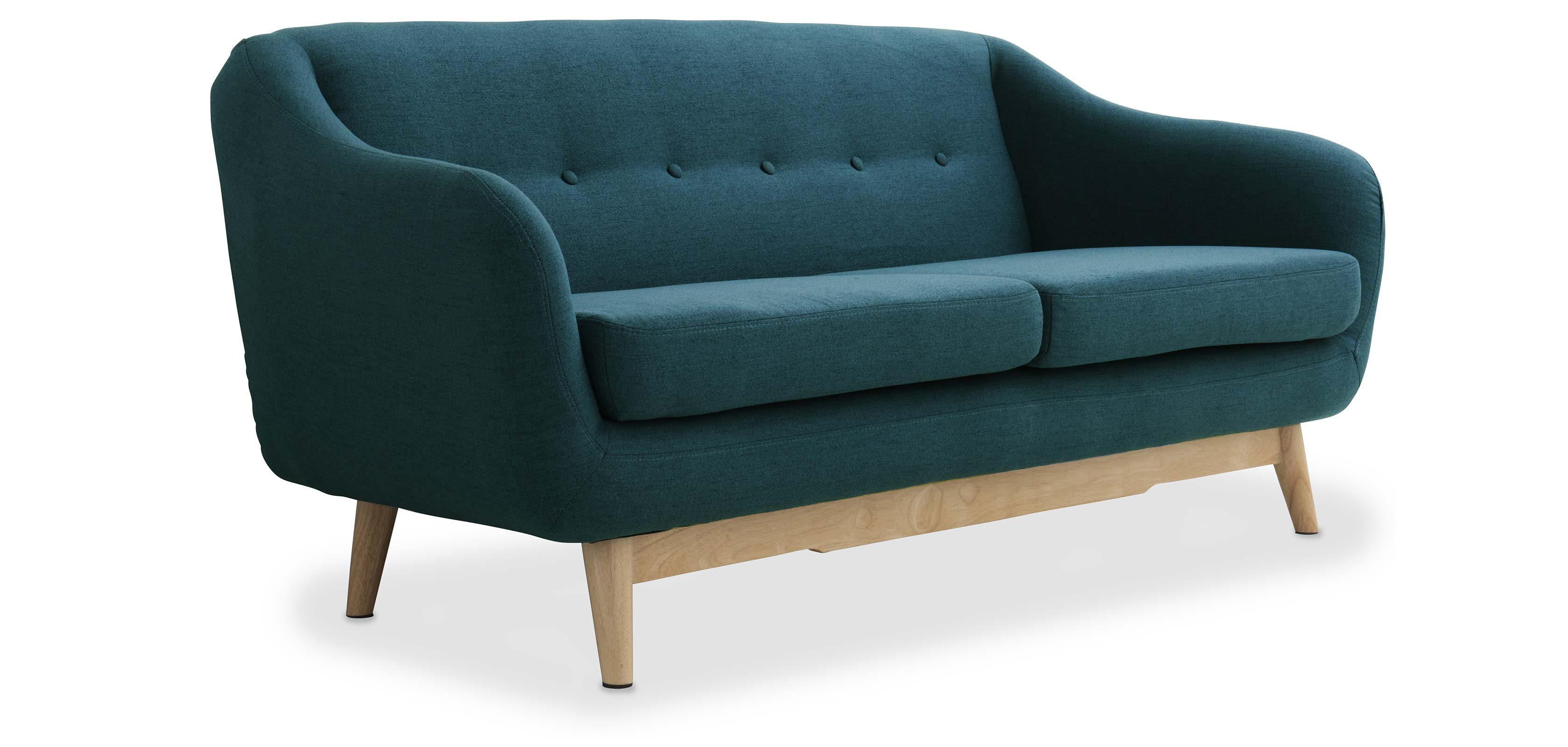 Canap 2 Places Style Scandinave Timsi # Canape D'Angle Style Scandinave Bleu