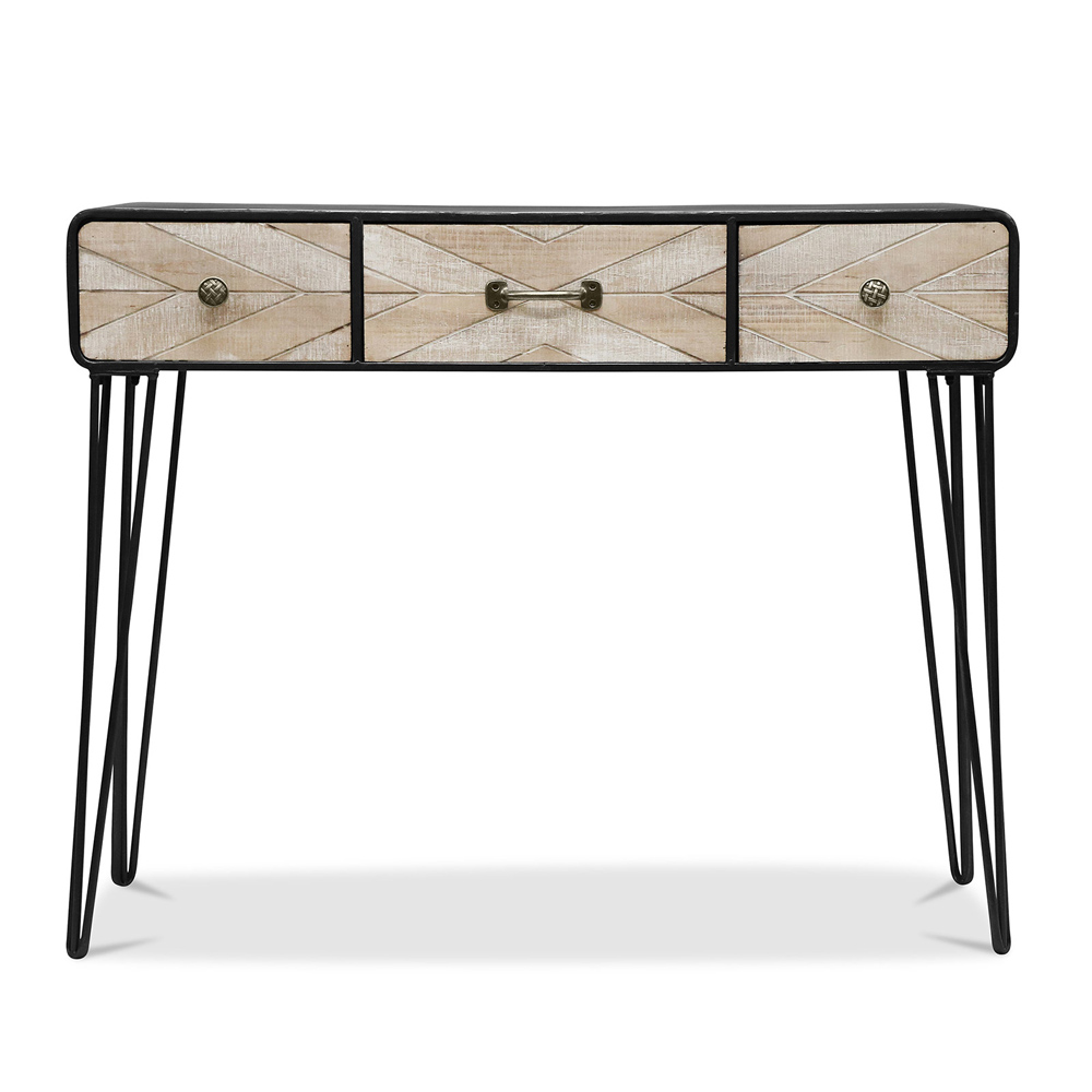 table de console en bois de style scandinave. Black Bedroom Furniture Sets. Home Design Ideas