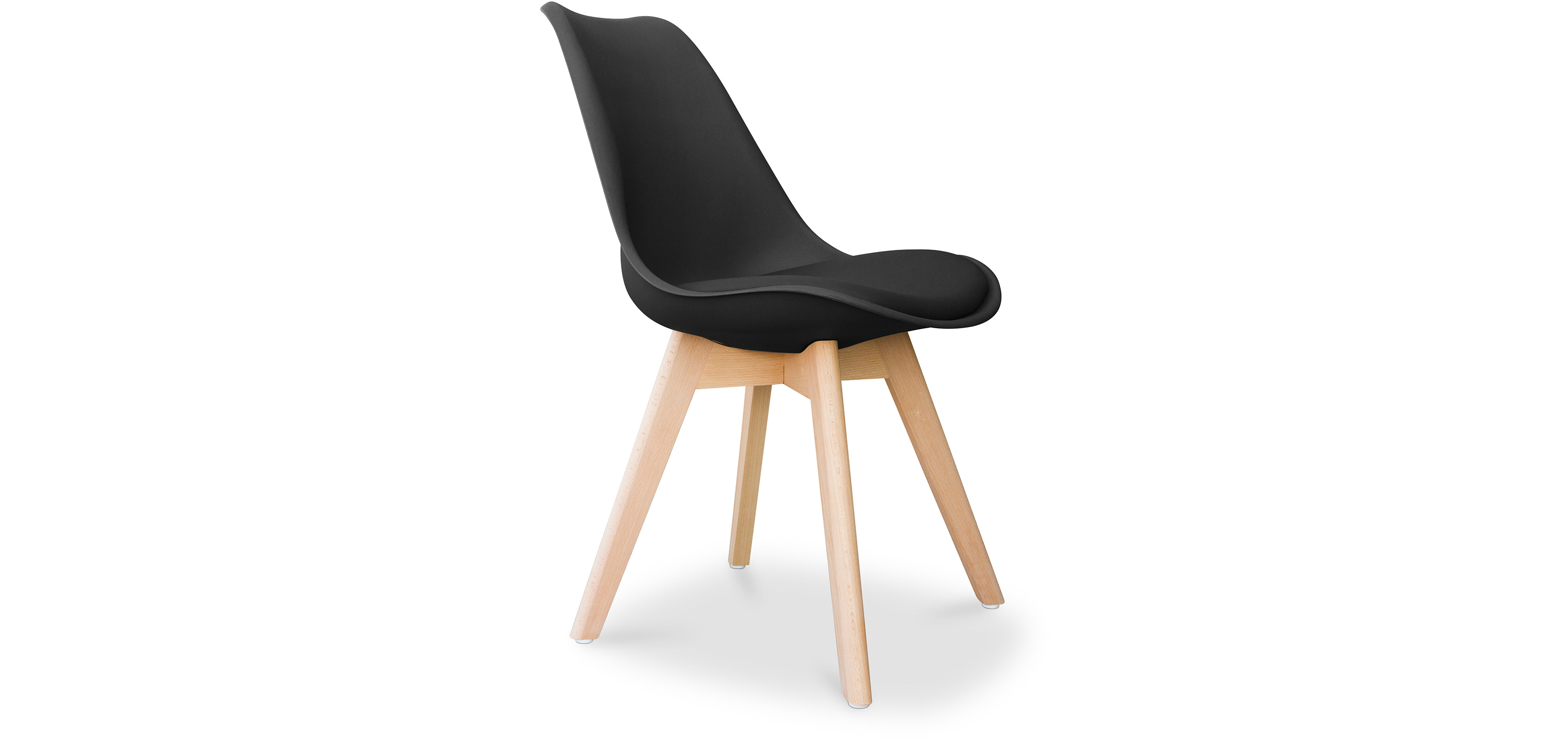 chaise dsw avec coussin design scandinave charles eames. Black Bedroom Furniture Sets. Home Design Ideas