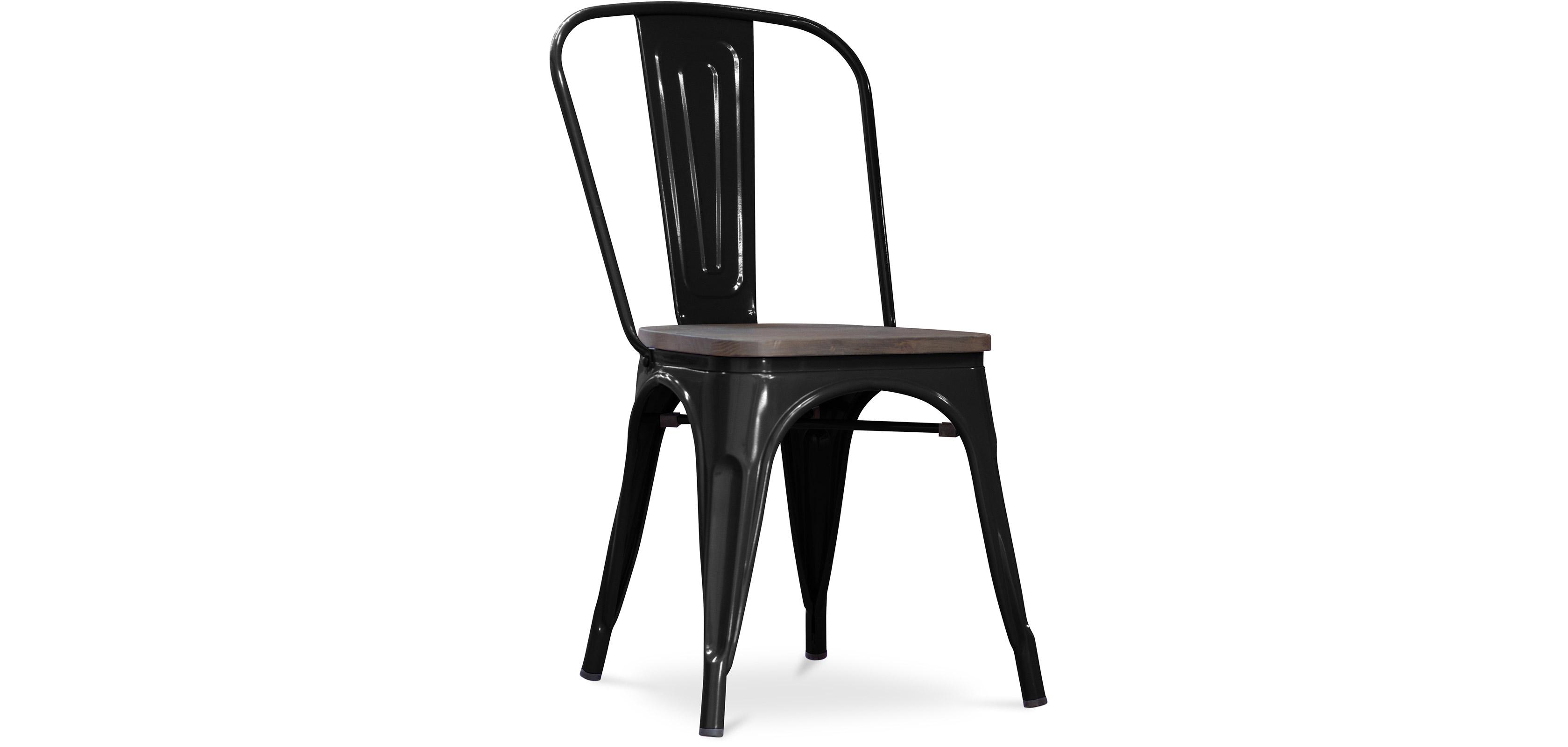 chaise tolix assise en bois xavier pauchard. Black Bedroom Furniture Sets. Home Design Ideas