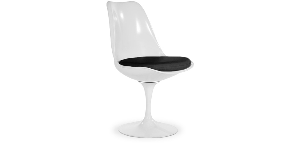 chaise tulipe pivotante eero saarinen coque blanche. Black Bedroom Furniture Sets. Home Design Ideas