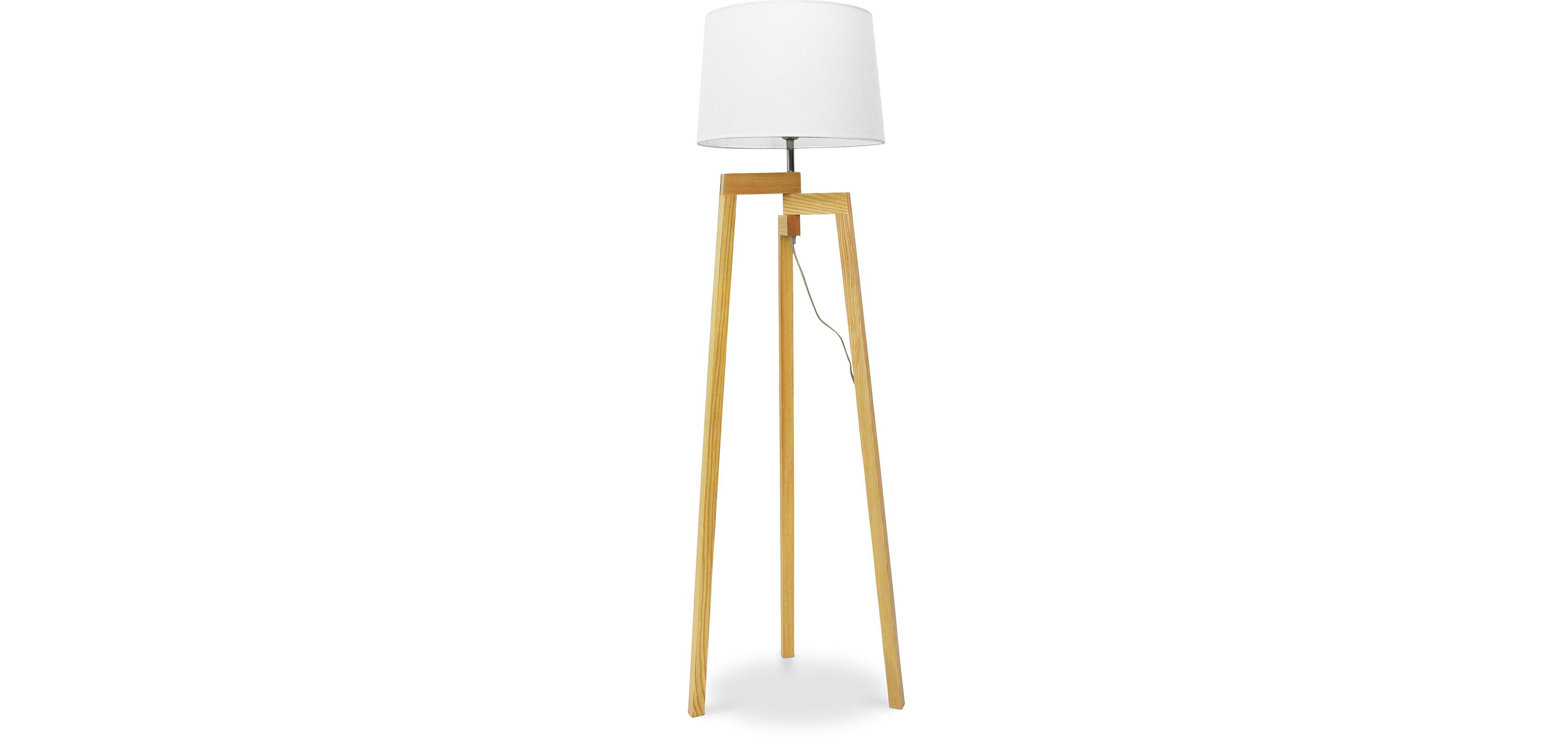 lampadaire tr pied style nordique bois. Black Bedroom Furniture Sets. Home Design Ideas