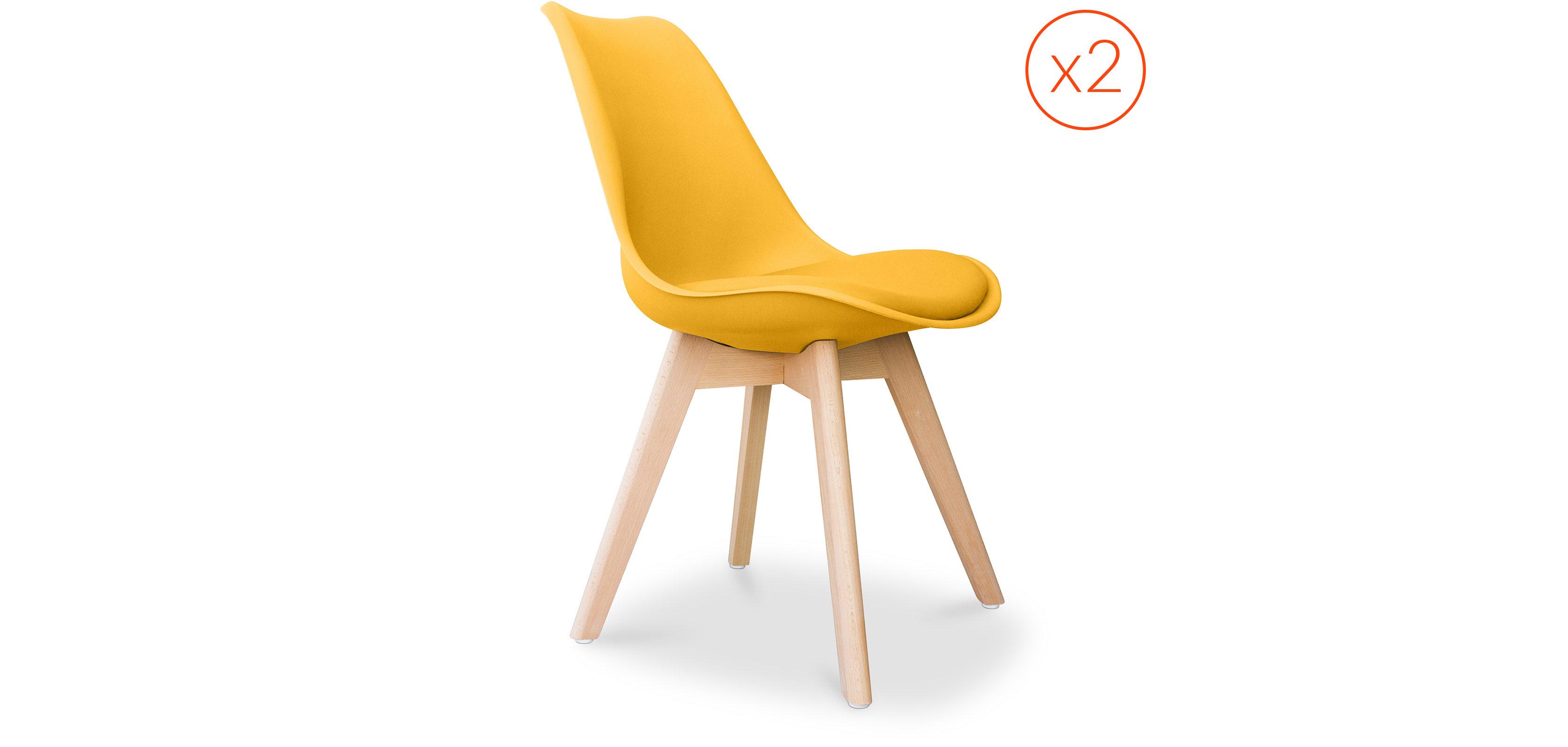 lot de 2 chaises dsw avec coussin design scandinave charles eames. Black Bedroom Furniture Sets. Home Design Ideas