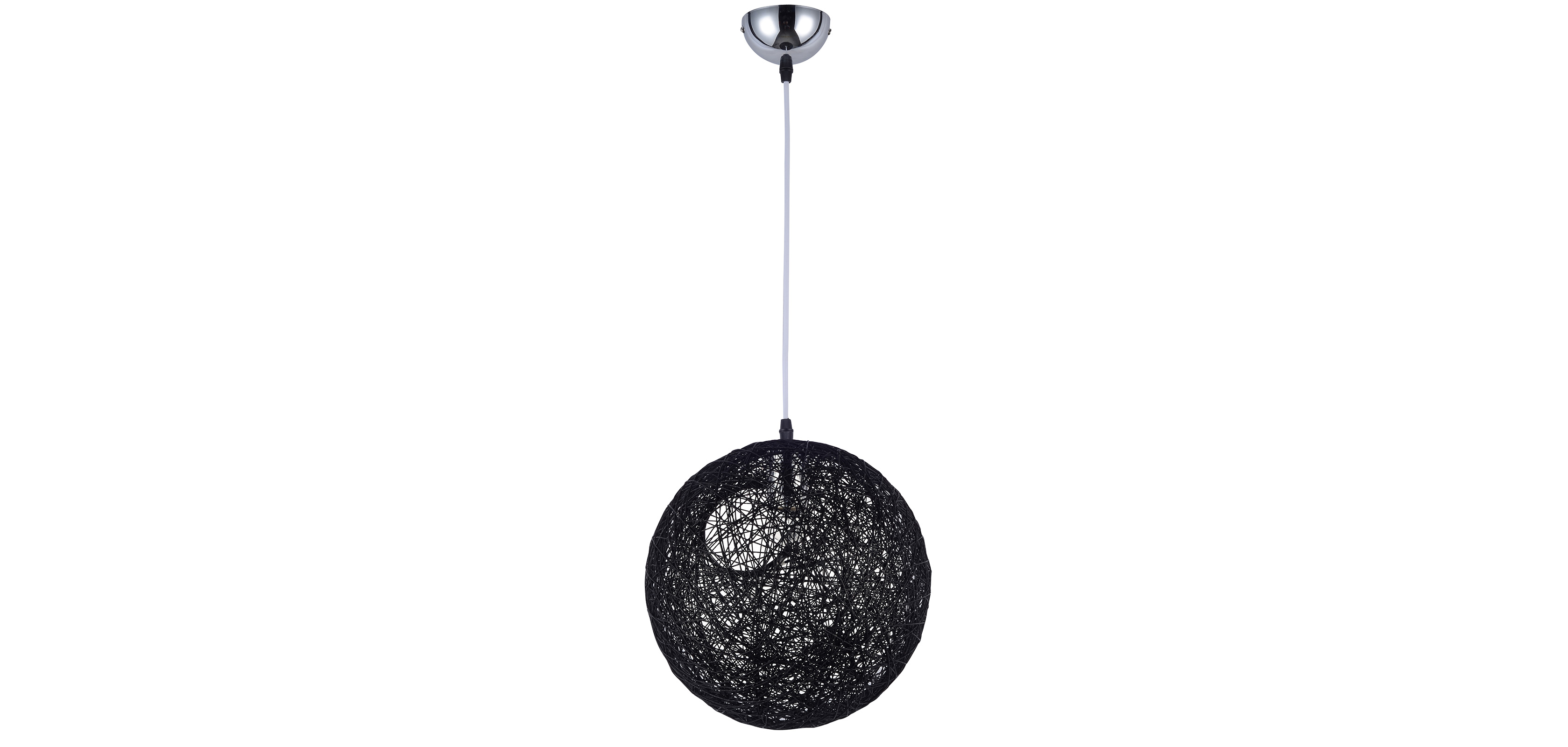Lampe suspension boule al atoire 40 corde for Suspension boule noire