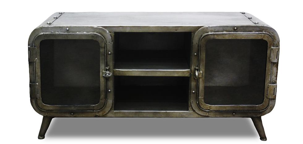 mmeuble tv industriel antique vintage grange co fer. Black Bedroom Furniture Sets. Home Design Ideas