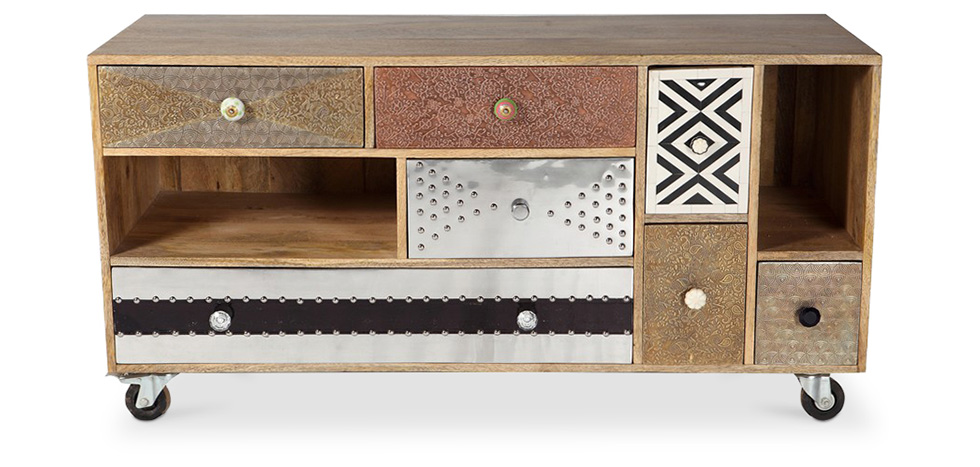Meuble tv de design vintage mady for Meuble antique a donner