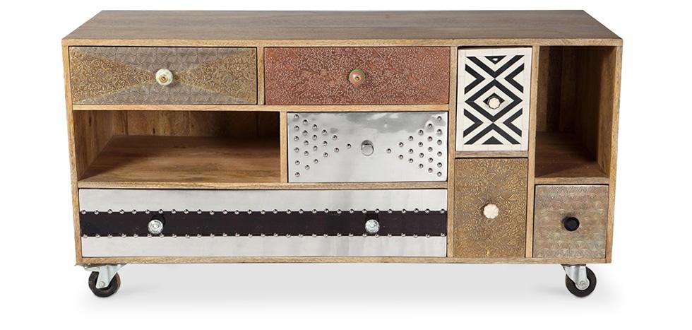 meuble TV design vintage