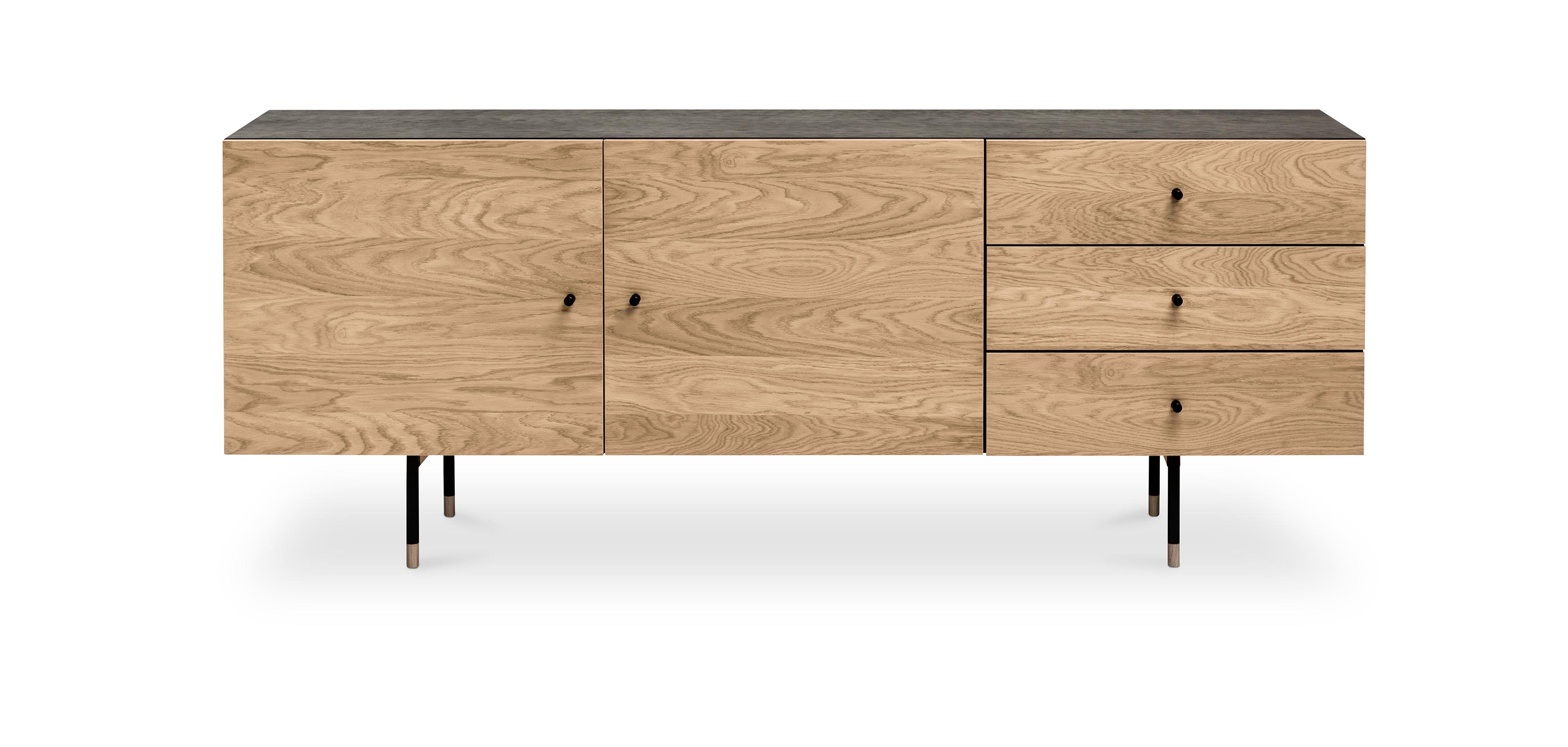 Buffet en bois bicolore de style scandinave Jafre