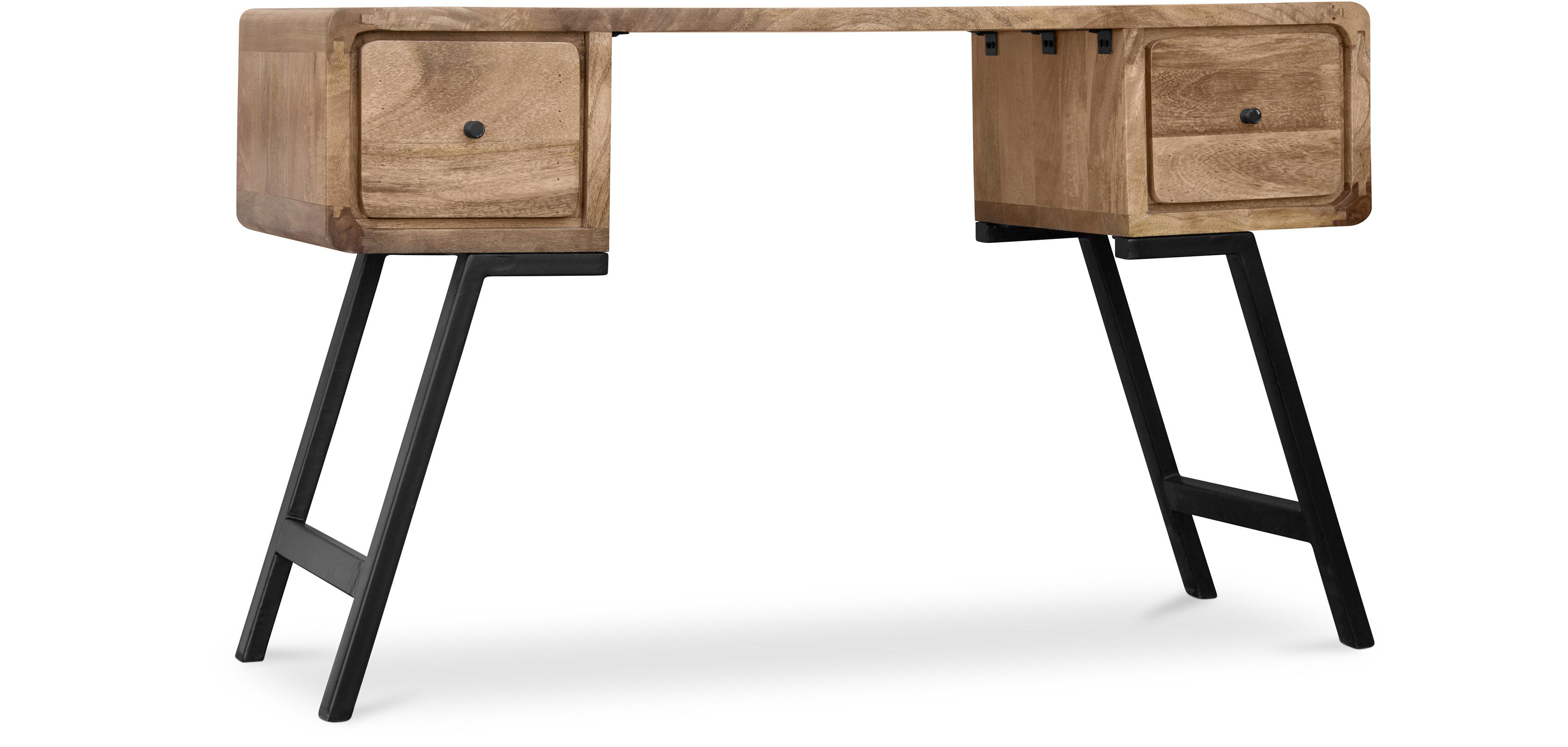 Bureau Design en bois recycl Style Industriel Jason