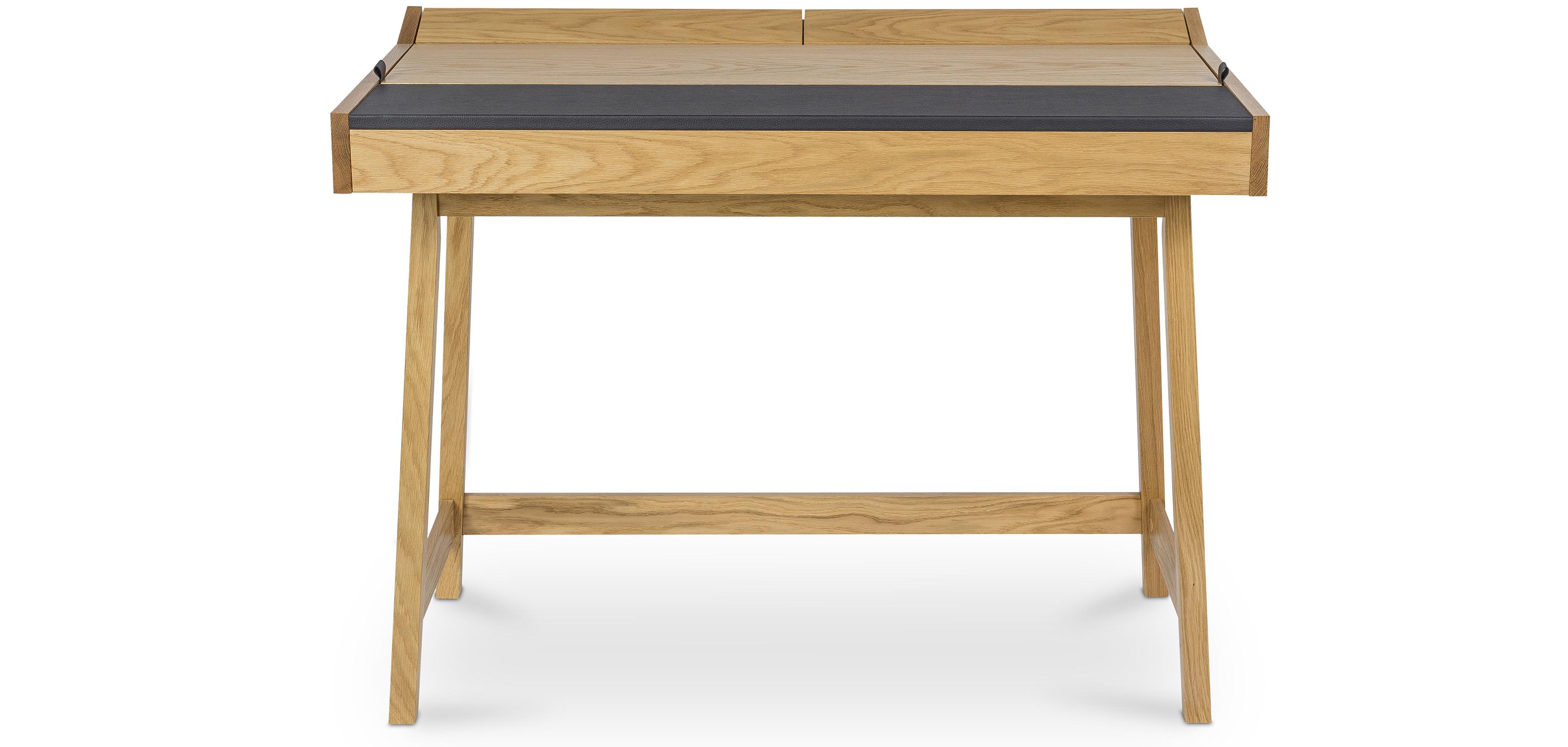 Bureau style scandinave avec panneau en cuir