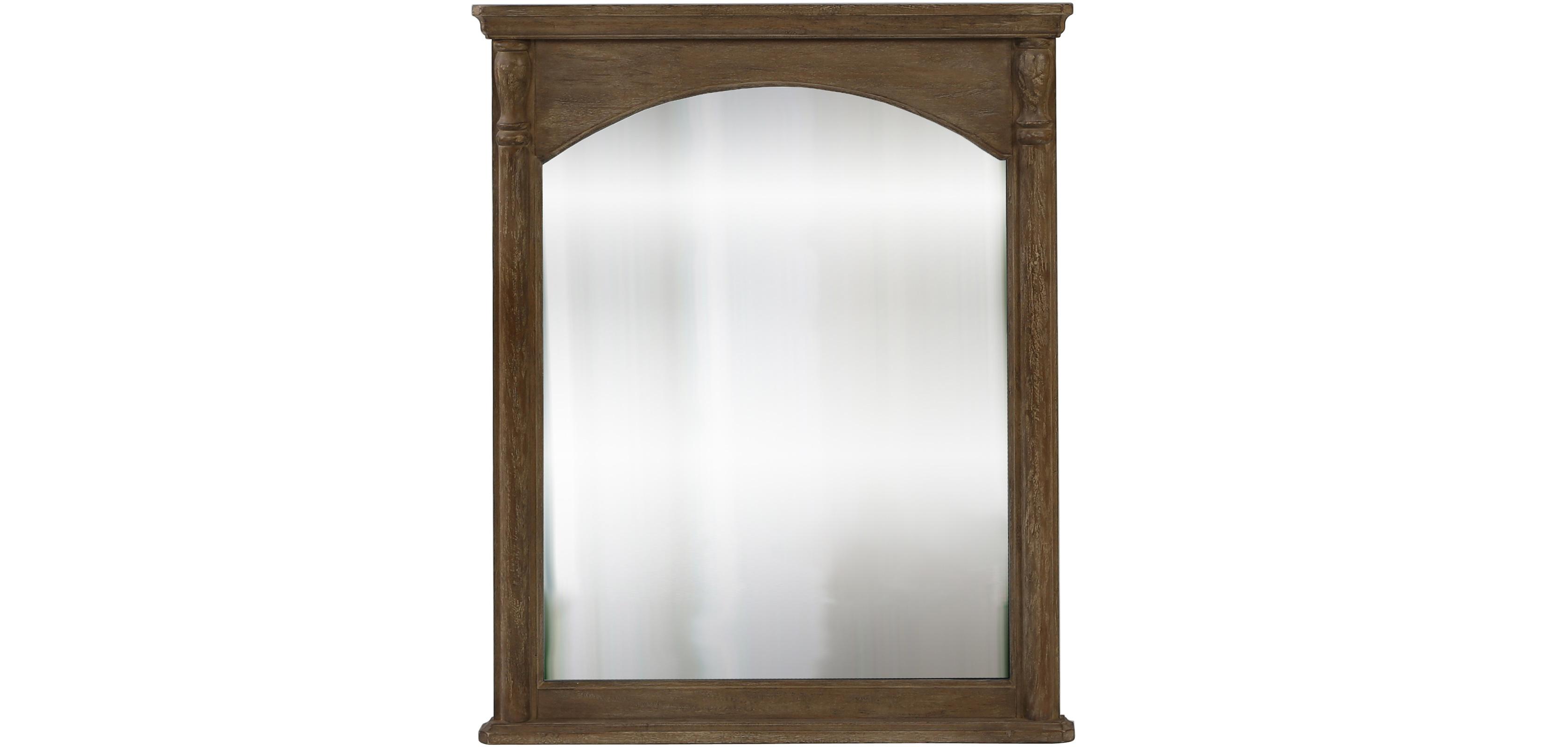 Miroir mural rectangulaire 100 x 80 bois