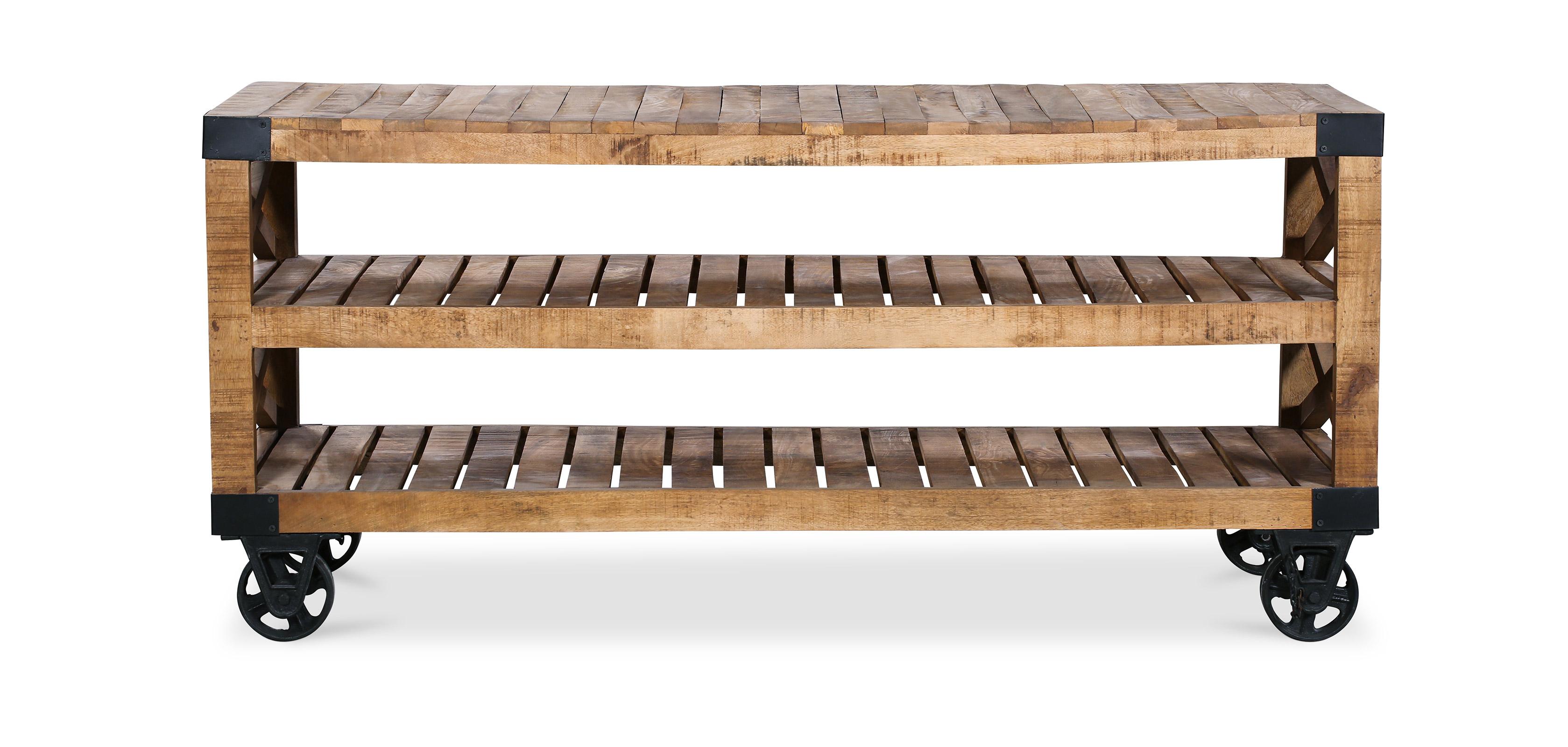 Meuble TV industriel en bois et métal
