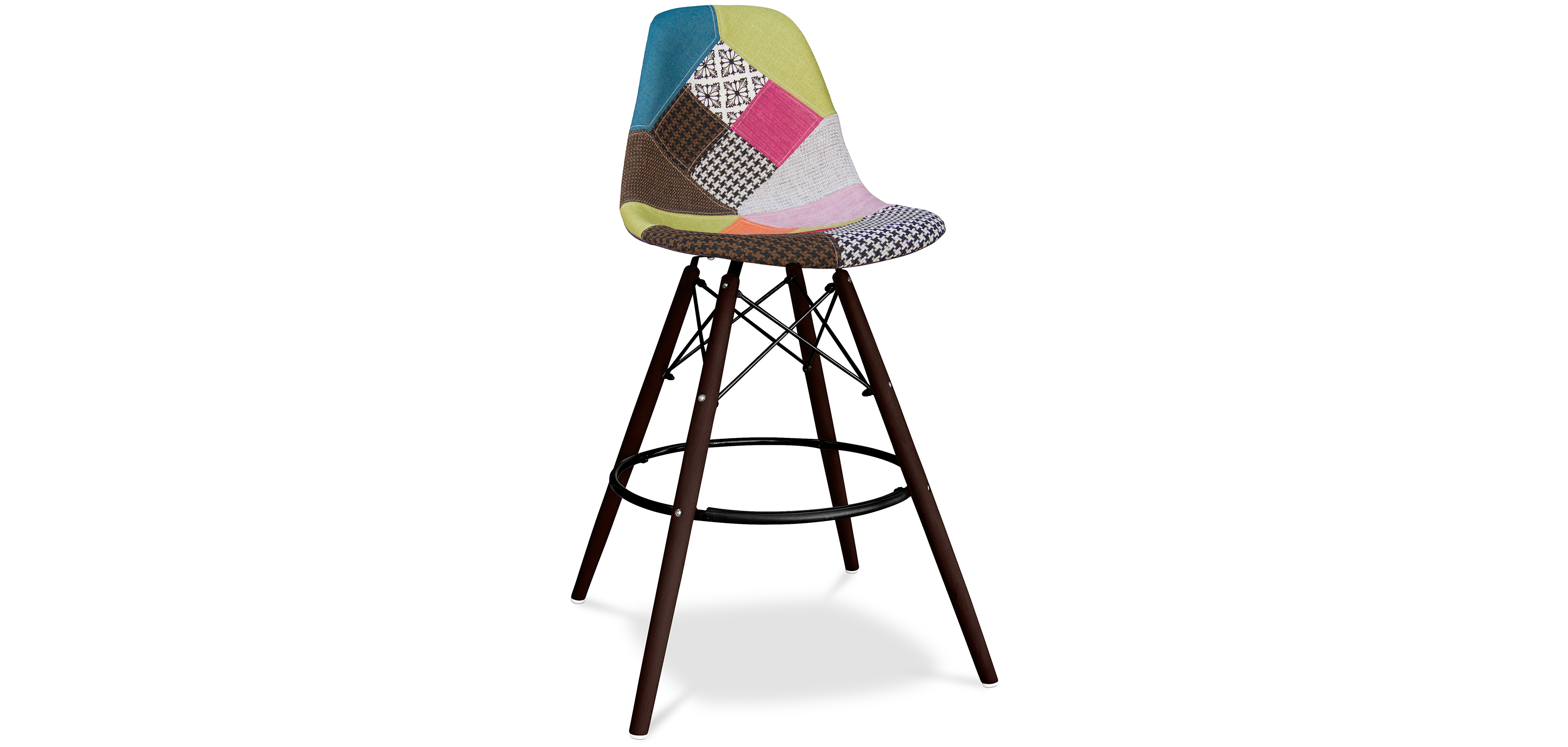 tabouret de bar deswin pi tement fonc patchwork fiona. Black Bedroom Furniture Sets. Home Design Ideas