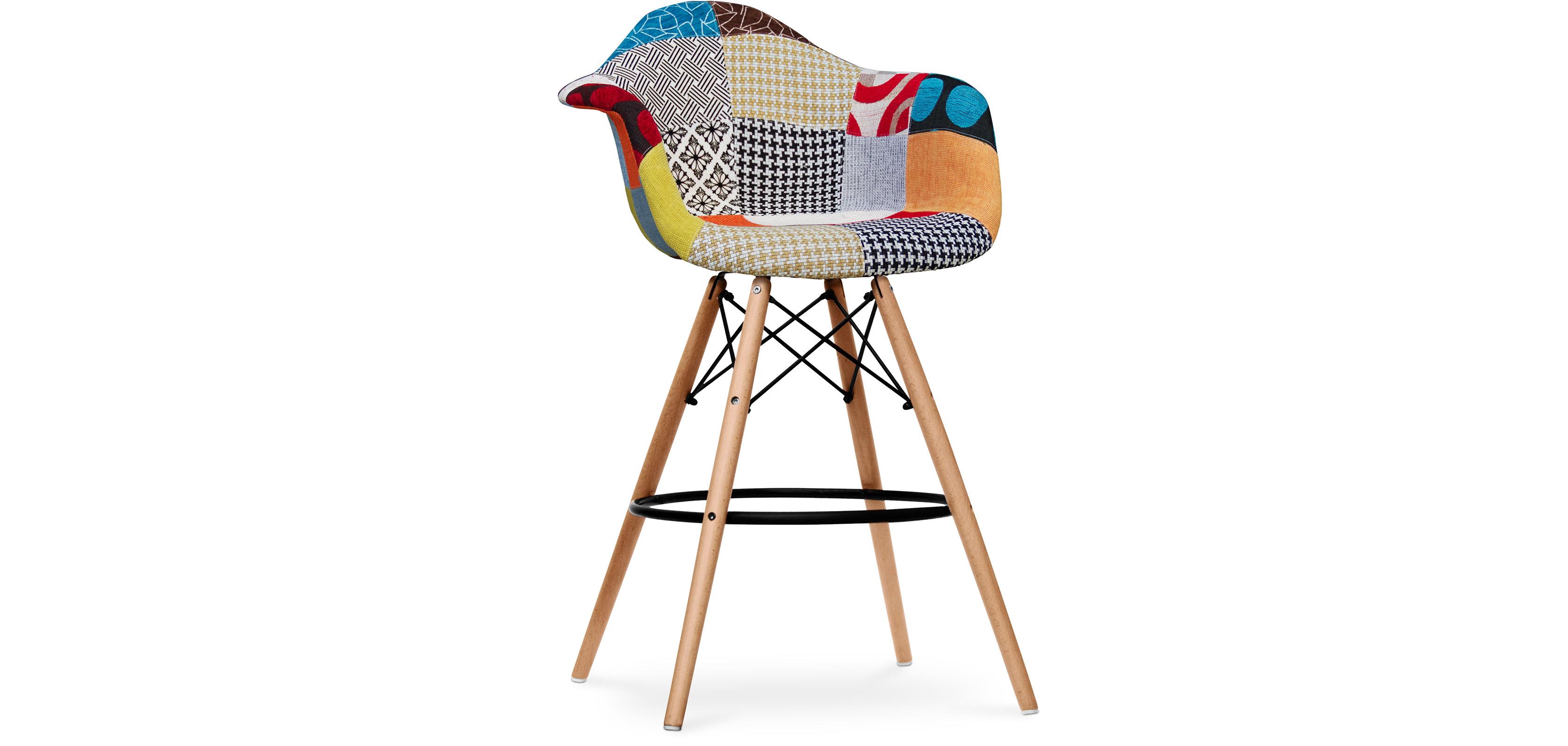 tabouret de bar dawly patchwork tess. Black Bedroom Furniture Sets. Home Design Ideas